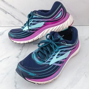 Brooks Glycerin 15 purple and blue sneakers 8.5